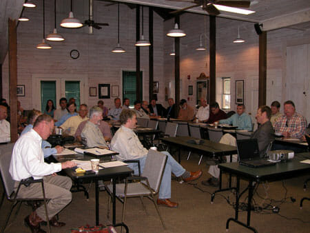 Summit Attendees listen to Commissioner of Agriculture Adam Putnam.