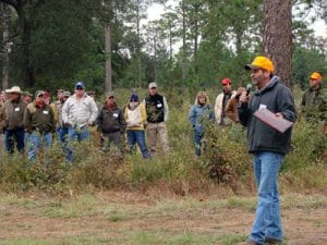 Clay Sisson discusses Albany Quail Program research at Pineland