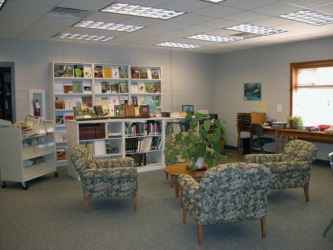 Parker-Williams Library reading room