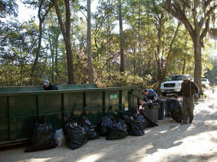 Ochlockonee River Clean-up recyclables