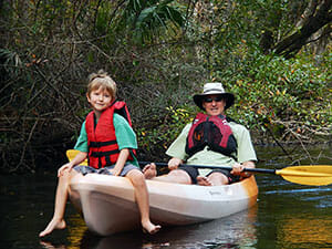 Kayaking on the Aucilla River. Photo by Bryan Desloges