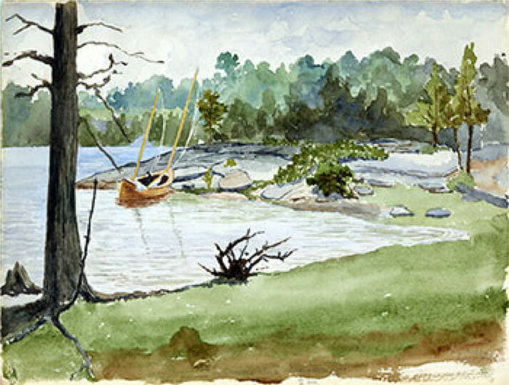 Watercolor by Henry Beadel