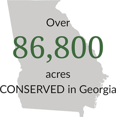 86,800 acres Conserved in Georgia
