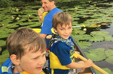 Boys in a Canoe