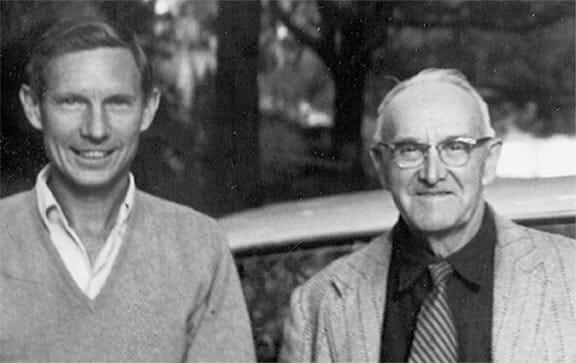Leon Neel and Herbert Stoddard, Sr. late 1950's